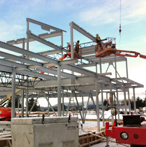 Steel Erection Commercial Buildings